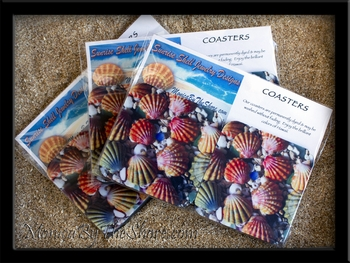 Hawaiian Sunrise Shell Coasters Pack of 4