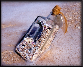 Beach in a Bottle Tequila Jug