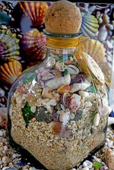 Patron Jug Beach In a Bottle Home Decor