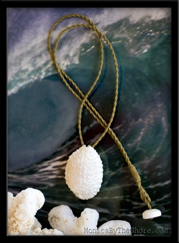 Pure White Granulated Cowrie Shell Necklace