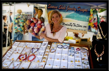 "Honolulu's Star Advertiser ""MidWeek"" feature story about ""Sunrise Shells by MonicaByTheShore"""