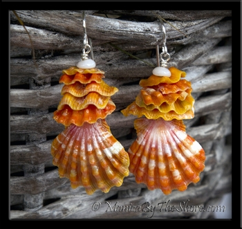 Hawaiian Sunrise Shells & Sunrise Chips Local Style Earrings