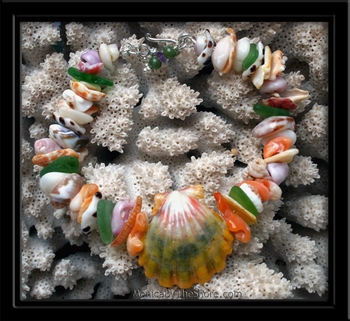 Ke Iki Beach Sunrise Shell Seaglass & Seashell Bracelet