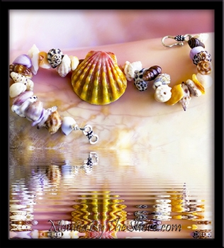 """Beach Candy"" Hawaiian Sunrise Shell & Seashell Bracelet"