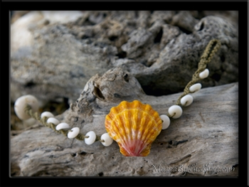 Custom for Valerie Extra Large Sunrise Shell & Macrame Puka Shells Bracelet