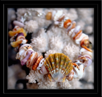 Ke Iki Beach Sunrise Shell & Seashell Bracelet Earthtone