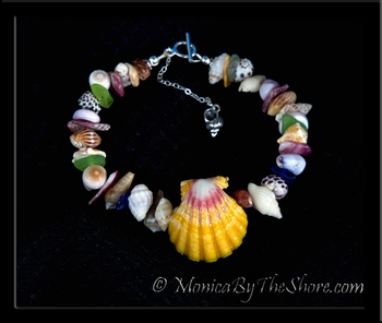 Beach Candy Sea Glass Sunrise Shell & Seashell Bracelet