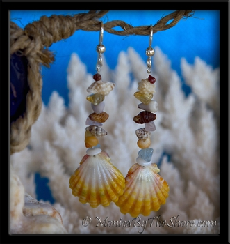 "Hawaiian Sunrise Shell ""Beach Candy"" Earrings"