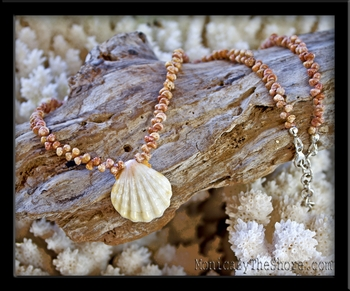 Rare Pure White Sunrise Shell & Kahelelani Lei Necklace