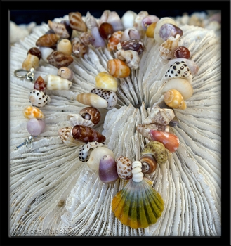 Sunrise Shell & North Shore Seashell Lei Choker