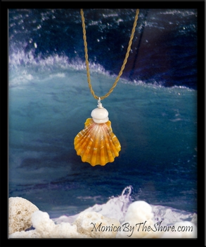 "Mango ""Keep da Country Country"" Hawaiian Sunrise Shell & Puka Shells necklace"