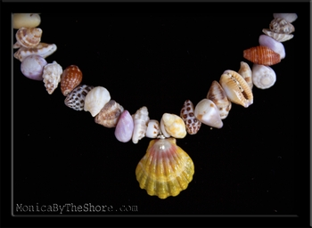 Hawaiian Sunrise Shell Seashell Love Choker Necklace