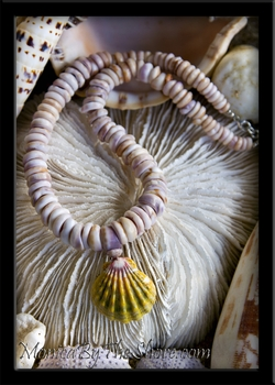 Chunky Purple Cone Puka Shells & Hawaiian Sunrise Shell Necklace