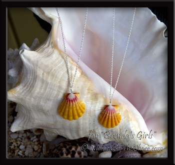 "Custom for ""Brenda's Girls"" Sunrise Shells & Swarovski Crystal Necklaces"
