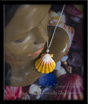 "Custom for ""John's Girl"" Sunrise Shell and Pearl Sterling Silver Necklace"