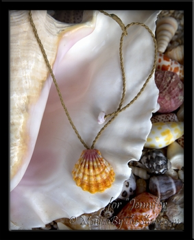 "Custom for ""Jennifer"" a Happy Hawaiian Sunrise Shell Necklace"