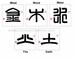 Chinese Brush Calligraphy - Feng Shui Symbols
