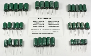FPCAPKIT - SunCon Capacitor Kit for LCD & Plasma Power Supplies, Assorted Values, 40 pcs
