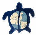 Hawaiian Turtle Rug - Blue