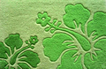 Hibiscus Area Rug - Green