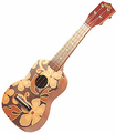 Floral Ukulele - Brown
