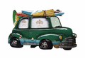 Green Surf Car Photo Frame