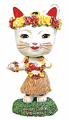 Good Luck Hula Cat Bobblehead
