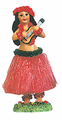 Hula Girl Playing the Ukulele Magnet