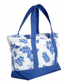 Hawaiian Canvas Beach Bag - Blue