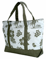 Hawaiian Canvas Beach Bag - Green