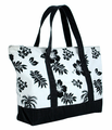 Hawaiian Canvas Beach Bag - Black