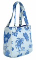 Hawaiian Canvas Handbag - Blue