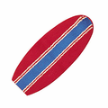 Red w/ Blue Pinstripe Surfboard Rug