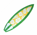 Floral Shortboard Rug - Green/Yellow