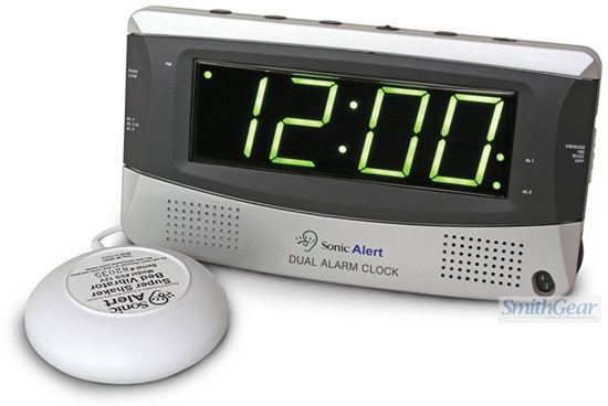 Sonic Boom Clock with Bed Shaker and DUAL ALARMS