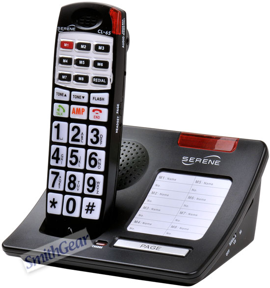 Serene CL-65 Big Button Amplified Talking CID Cordless with Talk Back