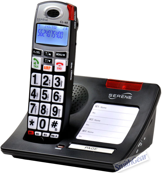 Serene CL-60 Big Button HD Amplified Talking CID Cordless Phone