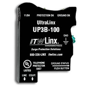 ITW Linx UP3B-100 UltraLinx 66 Block/100V Clamp/350mA Fuse