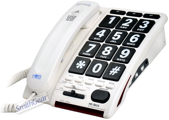 Serene HD-50JV HD Jumbo Key Amplified Telephone Voice Activated - Click to enlarge