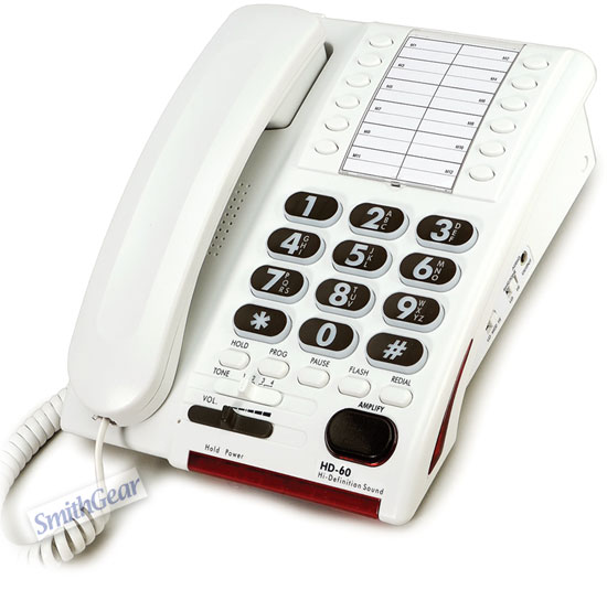 Serene HD-60 HD Corded Big Button Phone for Hard of Hearing