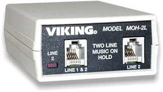 Viking Electronics MOH-2L Music On Hold for 1 or 2 Lines