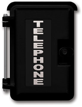 Viking VE-9X12B-1 Heavy-Duty Outdoor Phone Enclosure BLACK