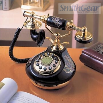 1914 Porcelain Phone BLACK