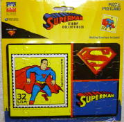 Superman USPS Limited Edition Puzzle Postcard