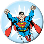 DC Comics Flying Superman Button