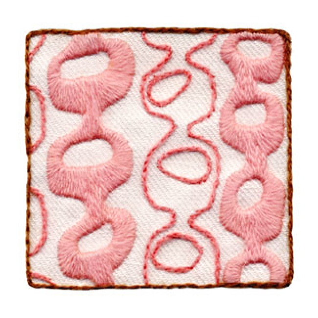 Chainlink pink crewel embroidery kit beginner