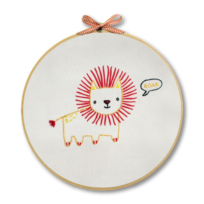 Lion Embroidery Kit For Beginners Hand Embroidery At