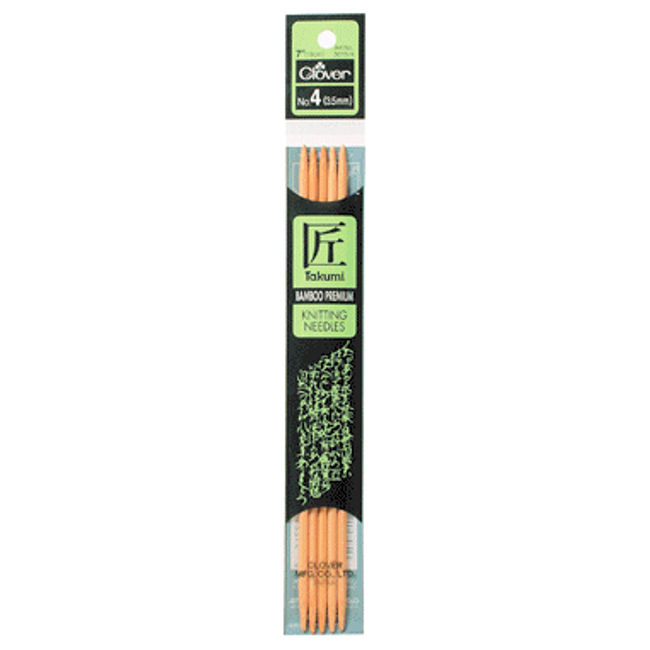 Knitting Needle Hs Code : Clover bamboo in double point knitting needles us size