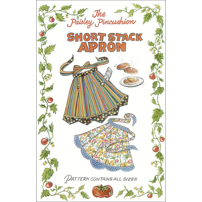 Short Stack Apron Sewing Pattern The Paisley Pincushion
