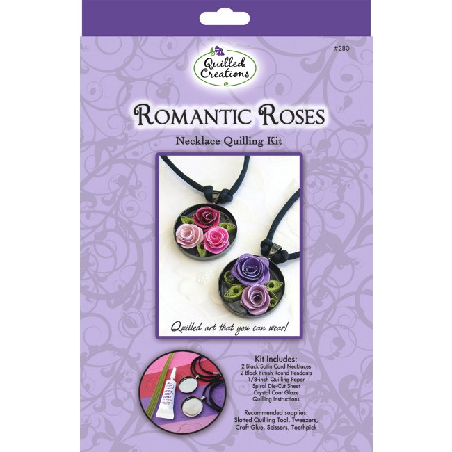 Romantic Roses Necklace Quilling Kit Paper Crafts At Weekend Kits